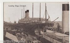 Landing Stage Liverpool, Shipping Postcard, B564