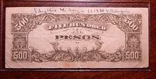 "Japan/Philippines 500 Pesos 1944 ""Short Snorter"" Solder's Wife's Name on Note"