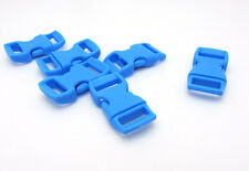 "10pcs 3/8"" Curved Side Release Plastic Buckle for Paracord Bracelet Lake Blue BK"