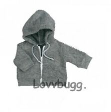 "Gray Hoodie Jacket for 18"" American Girl & Baby Doll Lovvbugg Means Selection!"