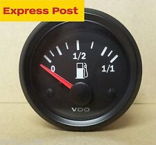 VDO 52mm 12v FUEL GAUGE SUIT EARLY HOLDEN + FORD 73-10 OHMS BRAND NEW...!