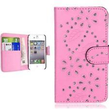 Samsung Galaxy S5 mini portafoglio custodia rosa strass bling scintillante case