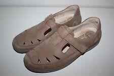 Bosque alfil Slipper balerina zapato bajo cuero genuino talla 38 UK 5 beige ancho h lejos