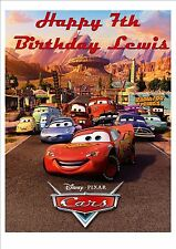 Disney Cars Lightning McQueen  Rice Paper Birthday Cake Topper!