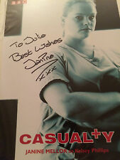 7x5 Hand Signed Photo Casualty Star Janine Mellor - Kelsey Phillips