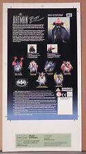 LEGENDS OF BATMAN ASSAULT GAUNTLET TOY PRODUCTION ART PROOF BRUCE TIMM AUTOGRAPH