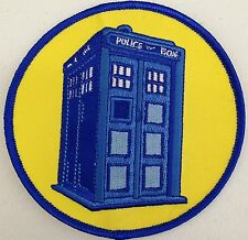 """DOCTOR WHO British TV Series 4"""" Logo Sew Ironed On Badge Embroidery Patch"""