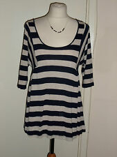 Phase Eight Stripe Top Size UK 10 Holiday Summer Casual