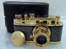 Leica-II(D) Wiking WWII Vintage Russian RF film 35mm Gold Photo Camera Excellent