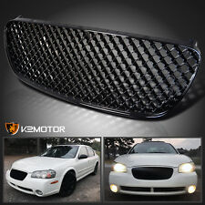 Black Honeycomb Grill Grille For 2002-2003 Nissan Maxima