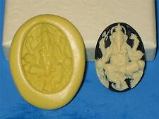Hindu Ganesh Cameo Push Mold Food Safe Silicone Cake Chocolate Resin Clay A287