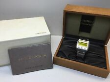 超希少極美品 Seiko VFA Grail Watch 0614 LC Quartz LCD Digital 06LC Box Set Uhr MOT