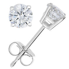 1/5 CT Diamond Stud Earrings 14k White Gold
