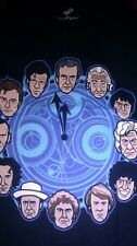 DW GALIFRAY CLOCK 12 DOCTORS MEN Dark Blue X-Large T-SHIRT NEW TEE FURY
