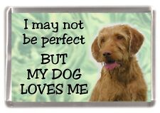 """Hungarian Wirehaired Vizsla Fridge Magnet """"I may not be perfect .."""" by Starprint"""
