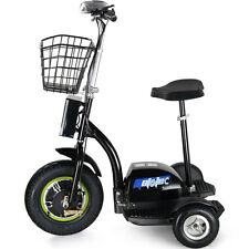 Electric Scooter EV Power 500 Watt 3 Wheeler Trike Mobility Basket Mo-Ped 48v RV