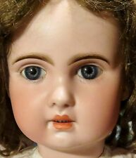 """26"""" 1890's French Tete Jumeau Doll, Perfect w/Dress & Mohair Wig"""