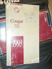 1993 MERCURY COUGAR ORIGINAL FACTORY OWNERS MANUAL OPERATORS BOOK