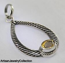 CITRINE BALI PENDANT 925 STERLING SILVER ARTISAN JEWELRY COLLECTION P163