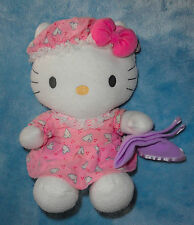 Nakajima Sanrio Plush Hello Kitty Pink Bunny Pajamas w/ Blanket Stuffed Animal