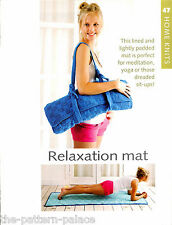 Knitting pattern leaflet - relaxation mat in textured block to knit - HK47