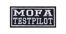 Mofa Testpilot Patch Aufnäher Badge Biker Heavy Rocker Bügelbild Kutte 2 Takt