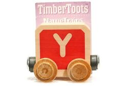 Timber Toots Name Trains Wooden Railway System Alphabet Preschool Toys Letter Y
