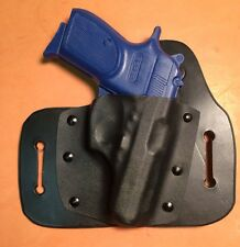 Leather/kydex hybrid OWB beltslide holster for Bersa .380