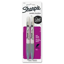 Sharpie METALLIC SILVER Fine Point Permanent Markers, Silver Ink, 2/Pack - 39108