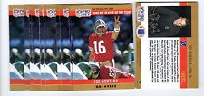 2X JOE MONTANA 1990 Pro Set #2 Player Of The Year 49ers Lot of 2 cards for .99