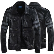 Resident Evil Leon Kennedy Leather Motorcycle Jacket Coat Cosplay Costume