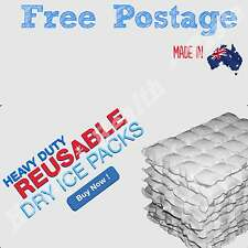 10 SHEETS ESKI ICE BOX ICE PACKS REUSABLE HYDRATABLE DRY WRAP COOLER / HOT PACK
