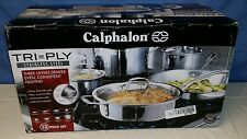 Calphalon Tri-Ply Stainless Steel 12-pc. Cookware Set New
