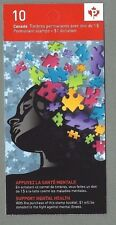 CANADA 2011 Booklet - SUPPORT MENTAL HEALTH - 10 x Permanent - Complete MNH