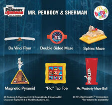 Mr Peabody & Sherman Mcdonald's Happy Meal Toys Complete Sets 2014 New Packs
