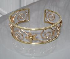 Vintage 1960's Krementz Ladies Gold Filled Cuff Bangle Bracelet Signed