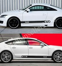 1Pair Decal Vinyl Car Stickers for Audi A3 A4 A6 Side Waist Line Auto Decoration