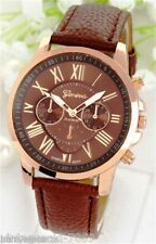 GENEVA BRAND CHRONOGRAPH STYLED WOMEN'S WRIST WATCH - BROWN