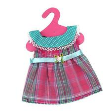 """Vintage Plaid Party Gown Dress Clothes for 18"""" American Girl My Life Doll"""