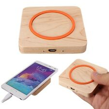 Qi Wireless Wooden Power Charger Pad for Apple iphone 6 Plus Samsung Galaxy HTC