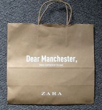 Very RARE Collectable Retro Vintage Limited Edition Zara Manchester Paper Bag