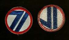 71st DIVISION ARMY PATCH WW2 ORIGINAL
