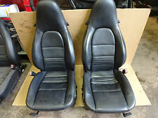 PORSCHE SEATS  PORSCHE 996 BLACK ELECTRIC LEATHER SEATS   PORSCHE CHAIRS  M17DRO