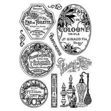 Crafty Individuals VINTAGE PERFUMERY Unmounted Red Rubber Stamps