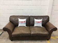 *Lovely Brown Leather Laura Ashley Sofa L��������K*