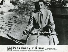 GREGORY PECK  ROMAN HOLIDAY 1953 VINTAGE PHOTO ORIGINAL VESPA