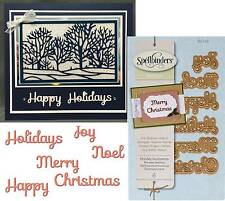HOLIDAY SENTIMENTS words die SPELLBINDERS Dies S2118 - christmas noel joy merry