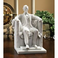 WU75764 Abraham Lincoln Memorial Bonded Marble Resin Statue -New!