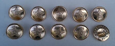 Knöpfe Buttons  22mm goldfarbend 1989 Offizier Soldat Uniform UDSSR Sowjet Armee