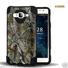 Autumn Camo Dual Layer Case w/Stand Skin Cover for Samsung Galaxy On5 G550